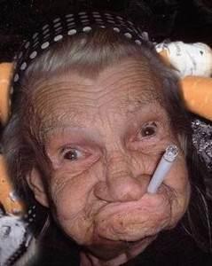 Лицо курильщика