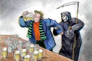 Смерть от пьянства