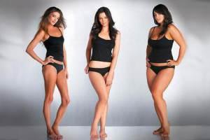 Женщины с разным весом
