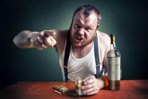 Агрессивный алкоголик